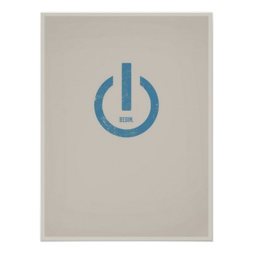 Power on minimalistic poster