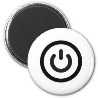 power on symbol magnet
