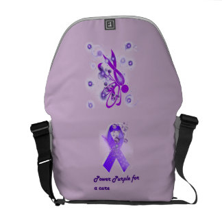 Power Purple For a Cure Travel Bag Messenger Bags