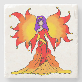 """Power"" Simple Fairy Beverage Coaster"