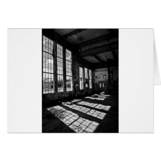 power station 8 bw greeting card