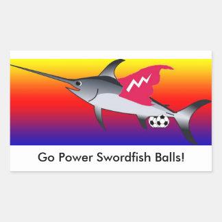 Power Swordfish Balls Sticker