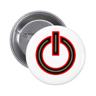 Power Symbol Pinback Buttons