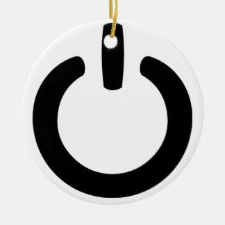 Power Symbol Round Ceramic Decoration