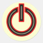 Power Symbol Round Sticker