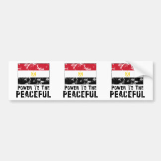 Power to the Peaceful Vintage Car Bumper Sticker