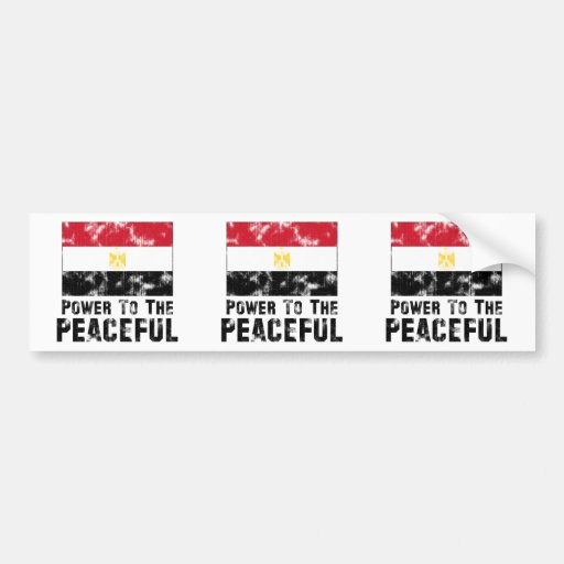 Power to the Peaceful Vintage Bumper Sticker