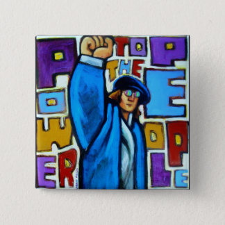 Power to the People 15 Cm Square Badge