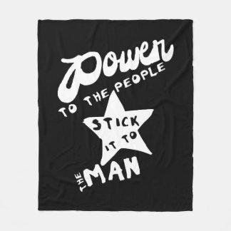 Power To The People Fleece Blanket