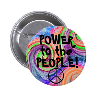 Power To The People-Groovy 6 Cm Round Badge