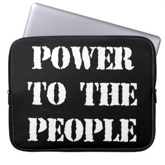Power to the People Laptop Computer Sleeves