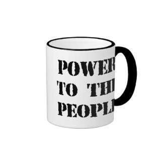 Power to the People Ringer Coffee Mug