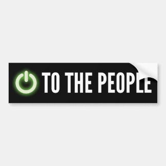 Power To The People Nerd Bumper Sticker
