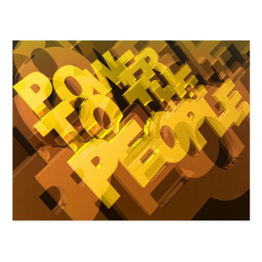 Power To The People Post Card
