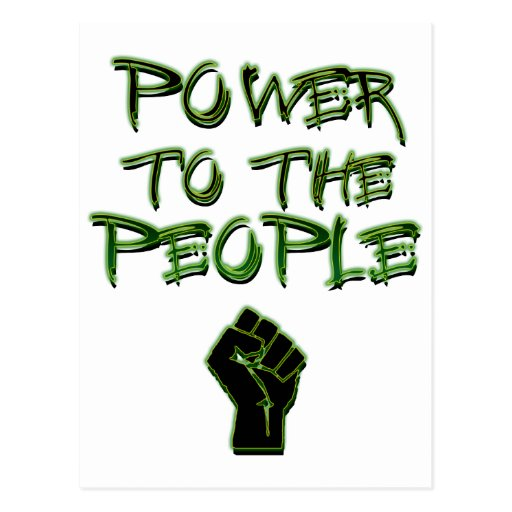 Power to the People! Post Card