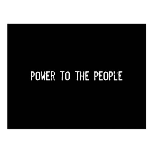 power to the people postcards