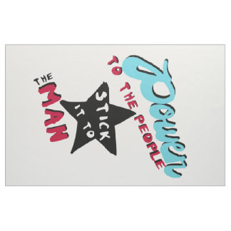 Power To The People Protest Banner Sign Flag Fabric