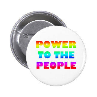 Power to the People Retro Style Protest Occupy 6 Cm Round Badge