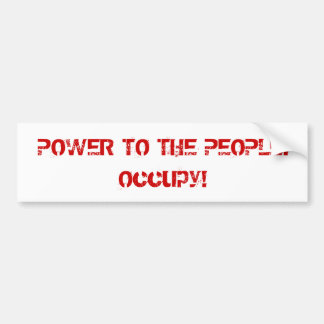 Power to the People Retro Style Protest Occupy Car Bumper Sticker