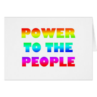 Power to the People Retro Style Protest Occupy Greeting Cards