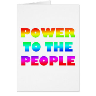 Power to the People Retro Style Protest Occupy Greeting Card