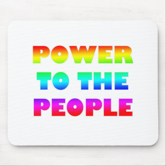 Power to the People Retro Style Protest Occupy Mouse Pad