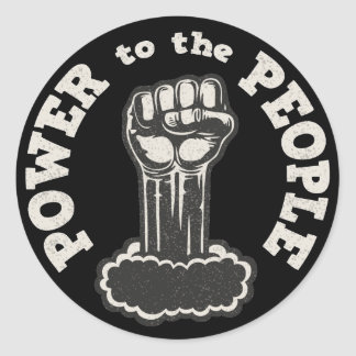 Power to the People Round Sticker