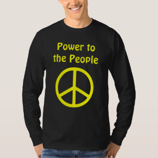 Power to the People Yellow Peace Sign T-Shirt