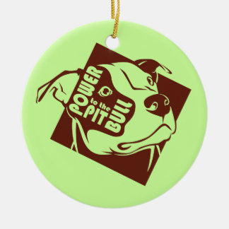 Power to the Pit Bull Christmas Ornament