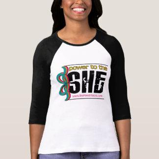 power to the SHE! - raglan T-shirts