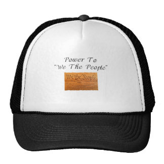 """Power To """"We The People"""" Trucker Hat"""