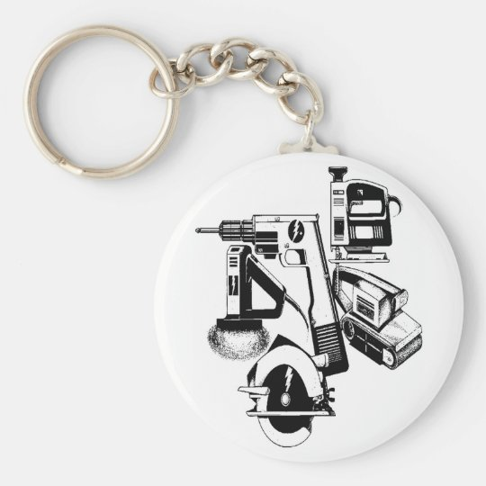 POWER TOOLS BASIC ROUND BUTTON KEY RING