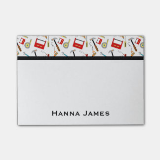 Power Tools Handyman Theme Personalized Post-it Notes