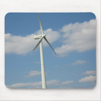 Power Wind Mill Generator Mouse Pad