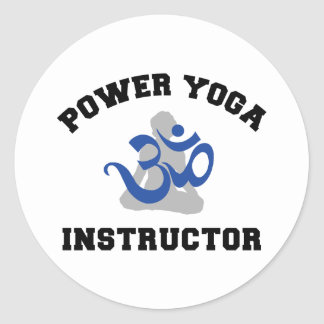 Power Yoga Instructor Round Sticker