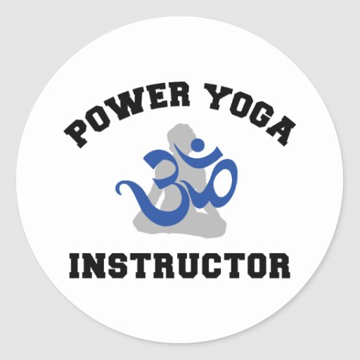 Power Yoga Instructor Round Stickers