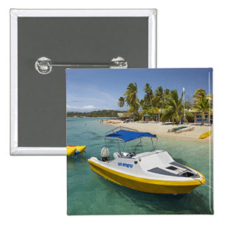 Powerboat and banana boat 15 cm square badge
