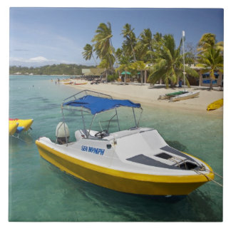 Powerboat and banana boat large square tile