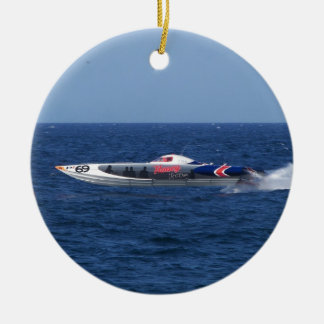 Powerboat Christmas Ornament