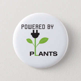 POWERD BY PLANTS 6 CM ROUND BADGE