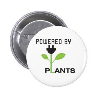 POWERD BY PLANTS 6 CM ROUND BADGE