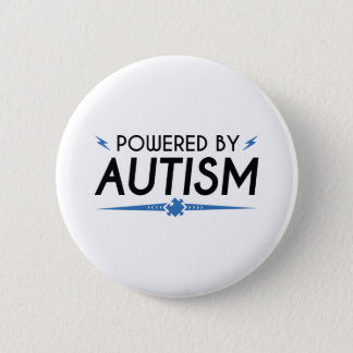 Powered By Autism 6 Cm Round Badge