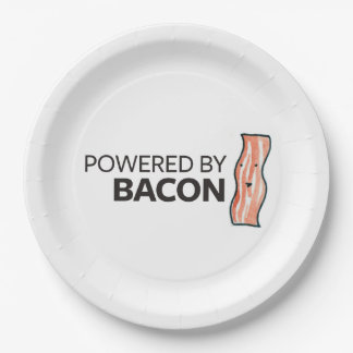 Powered by Bacon 9 Inch Paper Plate