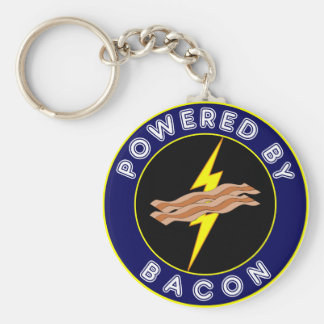 Powered By Bacon Key Ring