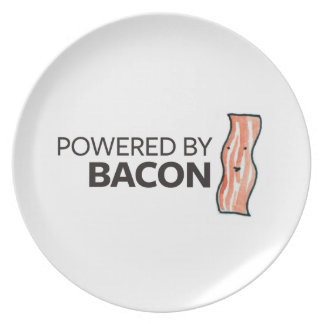 Powered by Bacon Party Plates