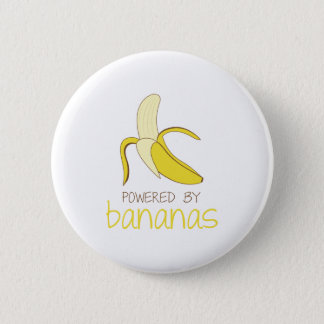 Powered By Bananas 6 Cm Round Badge