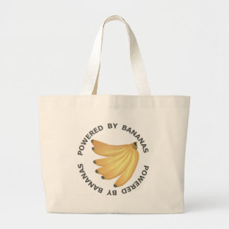 Powered By Bananas Large Tote Bag
