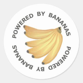 Powered By Bananas Round Sticker