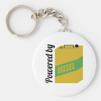 Powered By Basic Round Button Key Ring