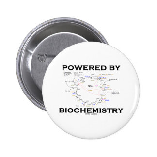 Powered By Biochemistry (Krebs Cycle) 6 Cm Round Badge